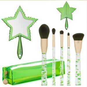 420 Bundle Jeffree Star Leaf Mirror & Brushes Set